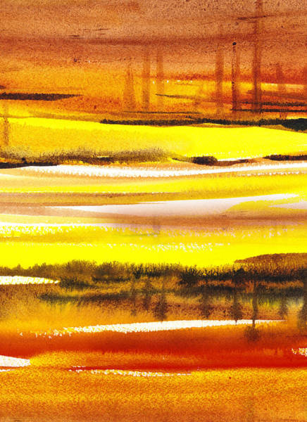 Lost Painting - Abstract Landscape Found Reflections by Irina Sztukowski
