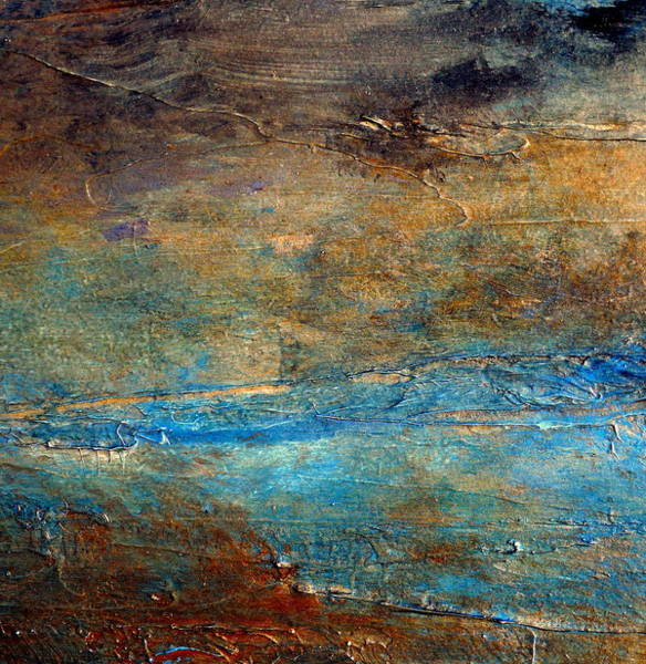 Masculine Painting -  Rustic Abstract Landscape Painting by Holly Anderson