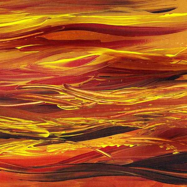 Guest Painting - Abstract Landscape Yellow Hills by Irina Sztukowski