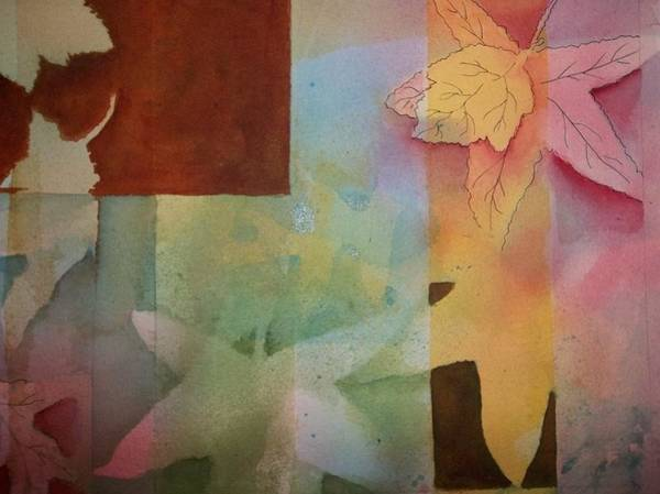 Painting - Abstract Leaves by Audrey Bunchkowski