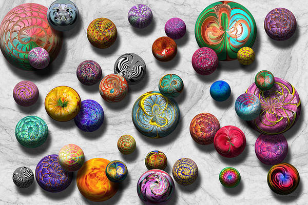 Photograph - Abstract - Marbles by Mike Savad