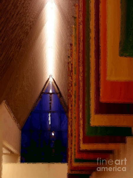 Muhlenberg Photograph - Abstract - Center For The Arts Interior Allentown Pa by Jacqueline M Lewis