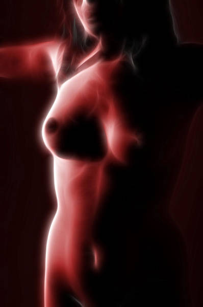 Female Nude Digital Art - Abstract Nude 2 by Nathan Wright