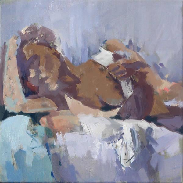 Maryam Wall Art - Painting - Abstract Nude 21 by Maryam Mughal