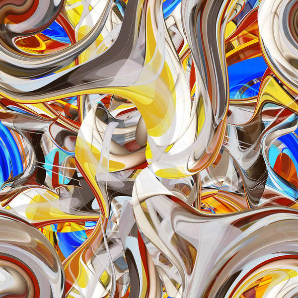 Digital Art - Carousel - 018 by rd Erickson