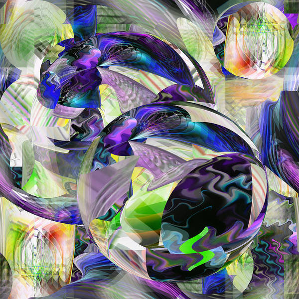 Digital Art - Purple Balls - 027 by rd Erickson