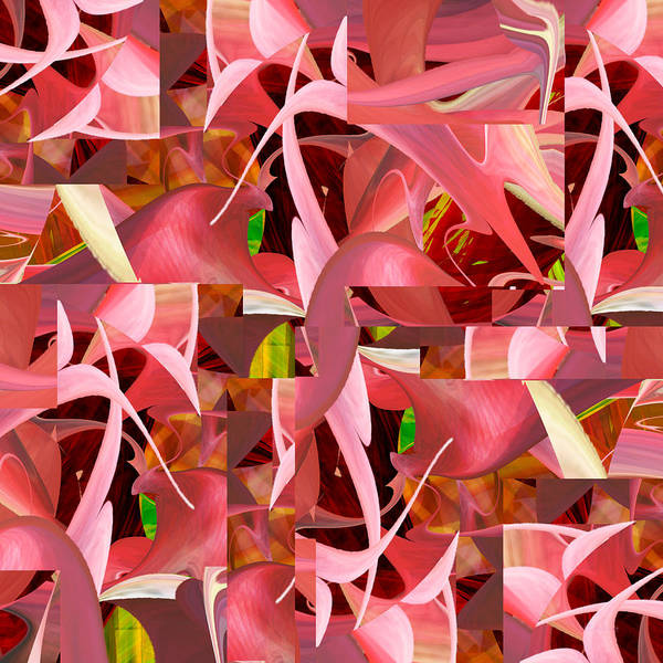 Digital Art - It's All About Pink - 028 by rd Erickson
