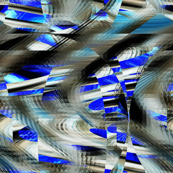 Digital Art - Blue Intrusion - 036 by rd Erickson