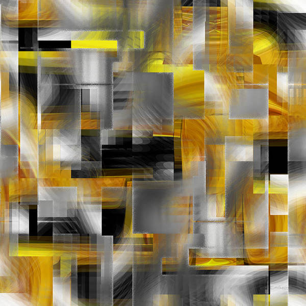 Digital Art - Silver And Gold - 043 by rd Erickson