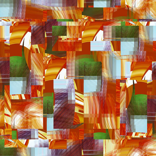 Digital Art - Basket Weave - 064 by rd Erickson