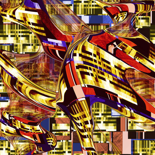Digital Art - Abstract Number 070 - Passage Of Superman by rd Erickson