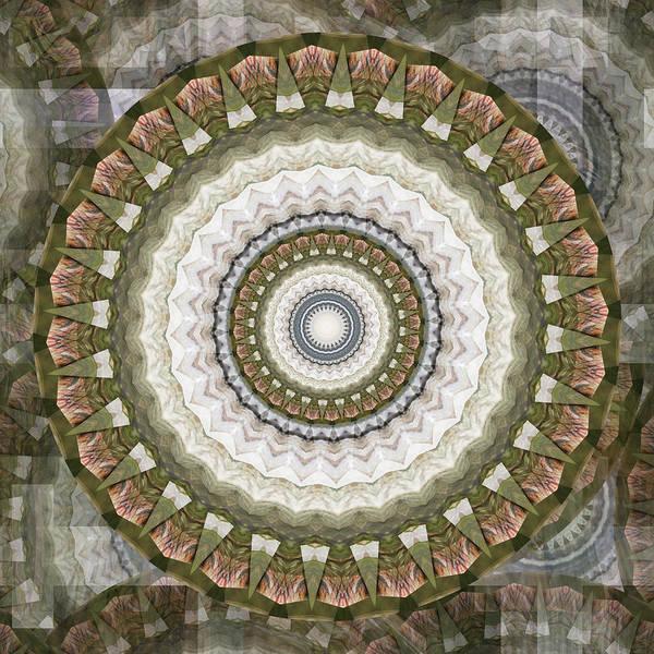 Digital Art - Snow Rosette Mandala 1 - 074 by rd Erickson