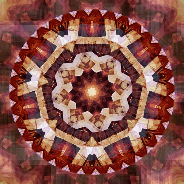 Digital Art - Mandala 3 - 076 by rd Erickson