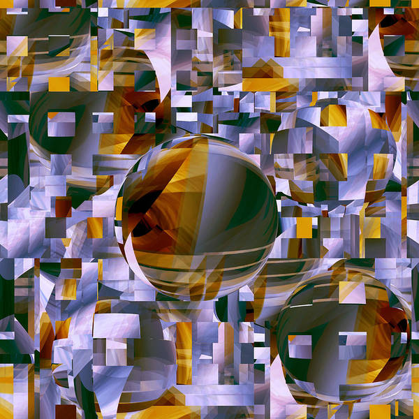 Digital Art - Center Ball by rd Erickson