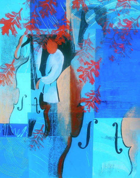 Wall Art - Photograph - Abstract Of Man Playing Blues On Double by Ikon Ikon Images