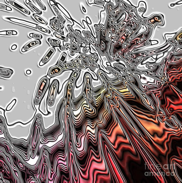 Photograph - Abstract. Art. Amazing Grey And Red Design by Oksana Semenchenko