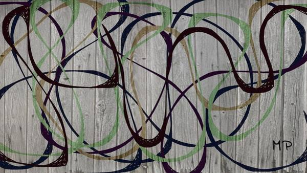 Mixed Media - Abstract On A Fence by Marian Palucci-Lonzetta