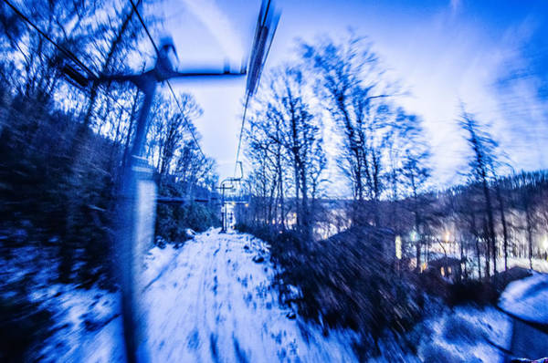 Photograph - Abstract On A Ski Lift by Alex Grichenko