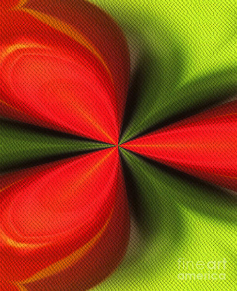 Digital Art - Abstract Orange And Green by Smilin Eyes  Treasures