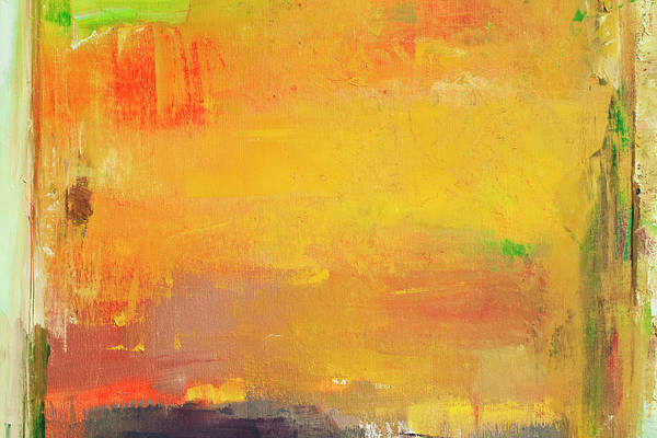 Oil Paint Photograph - Abstract Painted Orange And Green Art by Ekely