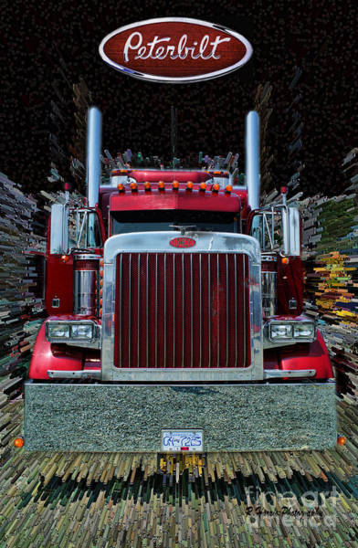Semi Truck Photograph - Abstract Peterbilt by Randy Harris