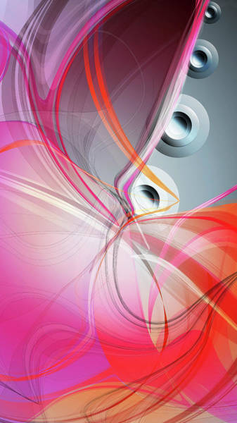 Vertical Line Digital Art - Abstract Pink And Grey Backgrounds by Sebastian Murra