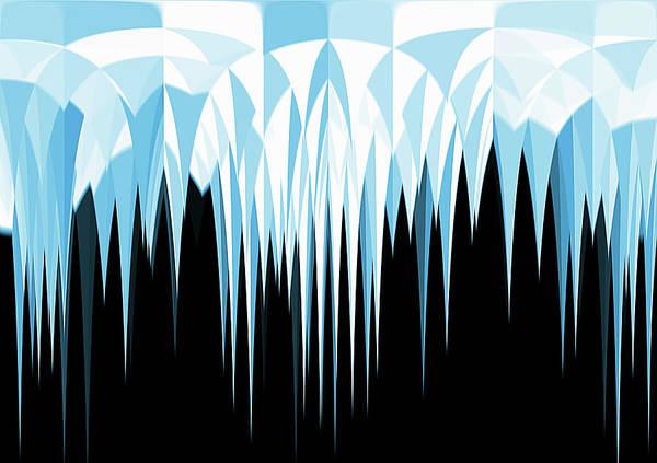 Phantasy Wall Art - Photograph - Abstract Pointed Icicles by Ikon Ikon Images