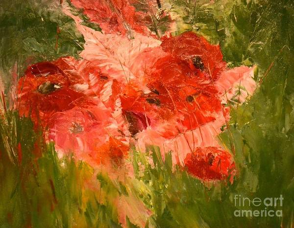 Painting - Abstract Poppies by Denise Tomasura