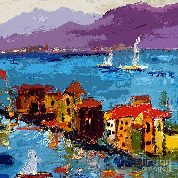 Painting - Abstract Portovenere Italy Part Two by Ginette Callaway