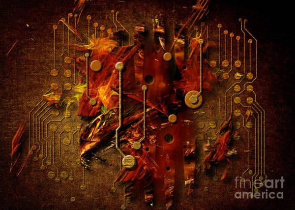 Digital Art - Abstract Printed Circuit by Alexa Szlavics
