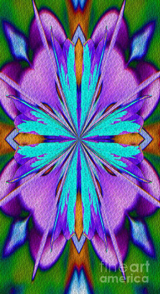 Digital Art - Abstract Purple Aqua And Green by Smilin Eyes  Treasures