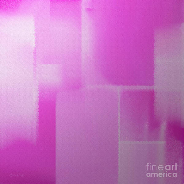 Pink And White Digital Art - Abstract Radiant Orchid Square by Andee Design