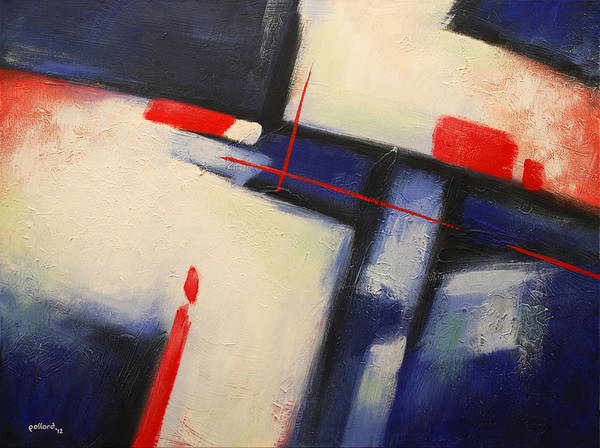 Painting - Abstract Red Blue by Glenn Pollard