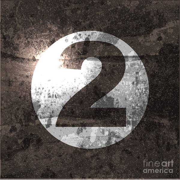 Number One Wall Art - Digital Art - Abstract Retro Background With Number by File404