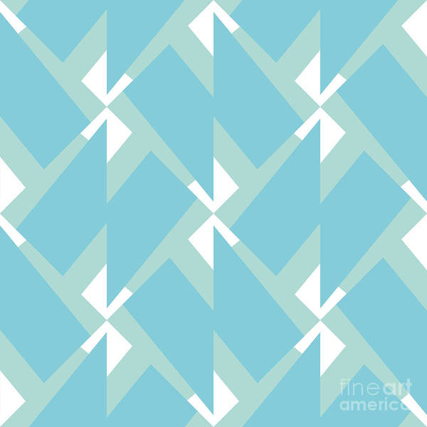 Shapes Digital Art - Abstract Retro Pattern. Vector by Artsandra
