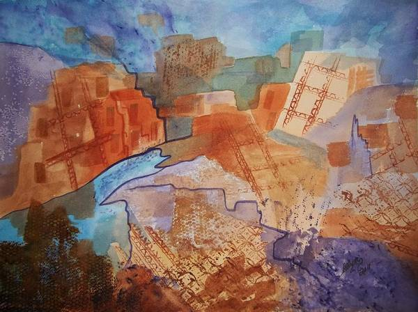 Adobe Walls Painting - Abstract Ruins by Ellen Levinson
