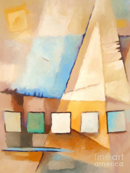Painting - Abstract Sail by Lutz Baar