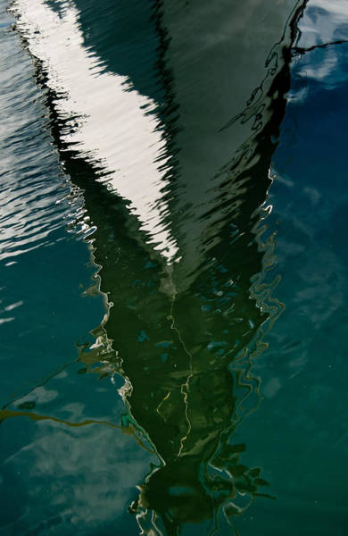 Photograph - Abstract Sailboat Reflection by Jani Freimann