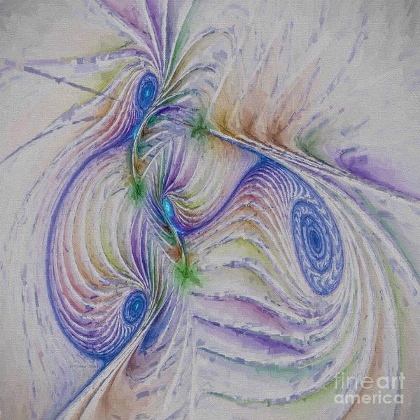 Generative Painting - Abstract Spiral by Deborah Benoit