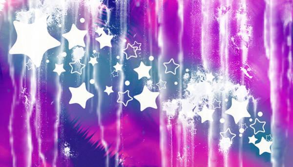 Wall Art - Digital Art - Abstract Star Fly by Mellisa Ward