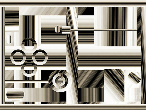 Digital Art - Abstract Station The Road To No Where by Andee Design