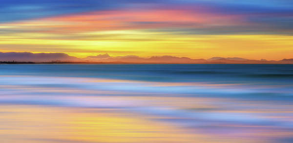 Waters Edge Wall Art - Photograph - Abstract Sunset by Andriislonchak