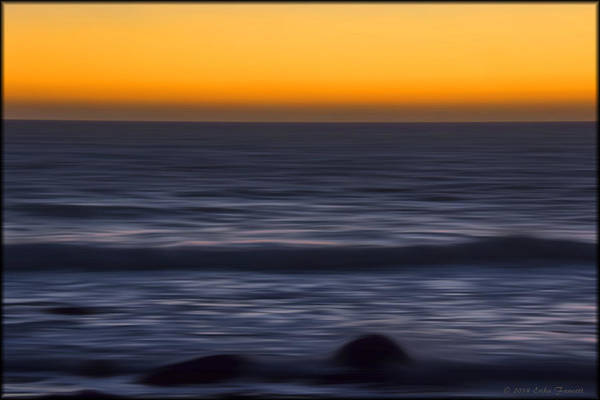 Photograph - Pacific Abstract Sunset by Erika Fawcett