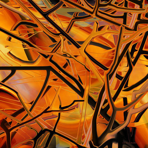 Digital Art - Abstract - Tangled Brush by rd Erickson