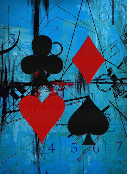 Spade Painting - Abstract Tarot Art 012 by Corporate Art Task Force
