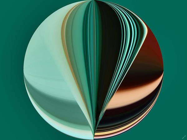 Digital Art - Abstract - Teal - Aqua - Seven by Kathy K McClellan