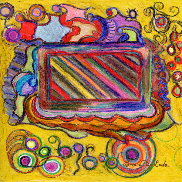 Drawing - Abstract Television And Shapes by Lenora  De Lude
