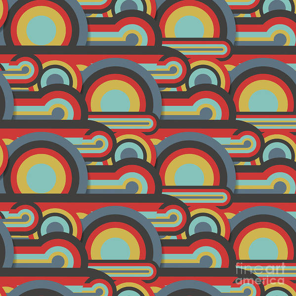 Digital Illustration Digital Art - Abstract Textile Seamless Pattern Of by Dark Ink