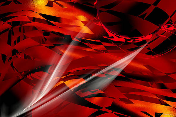 Digital Art - Abstract - The Burning by rd Erickson