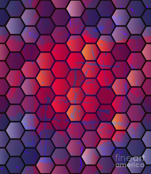 Triangle Digital Art - Abstract Vector Geometric Background by Alextanya